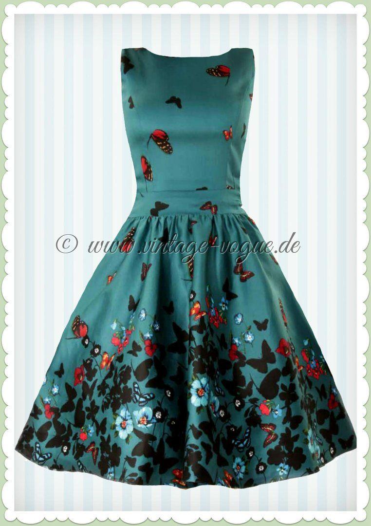 lady vintage 40er jahre vintage schmetterlinge kleid