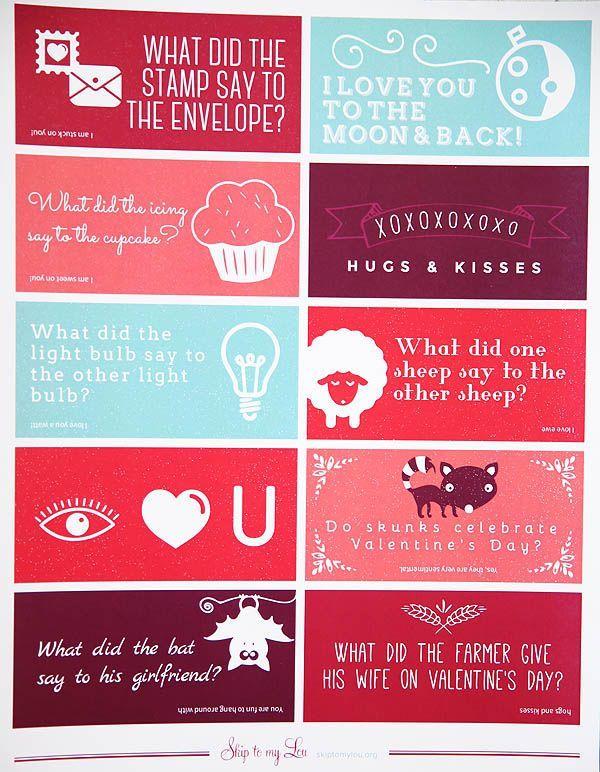 free printable valentine lunch box jokes - Valentines Joke
