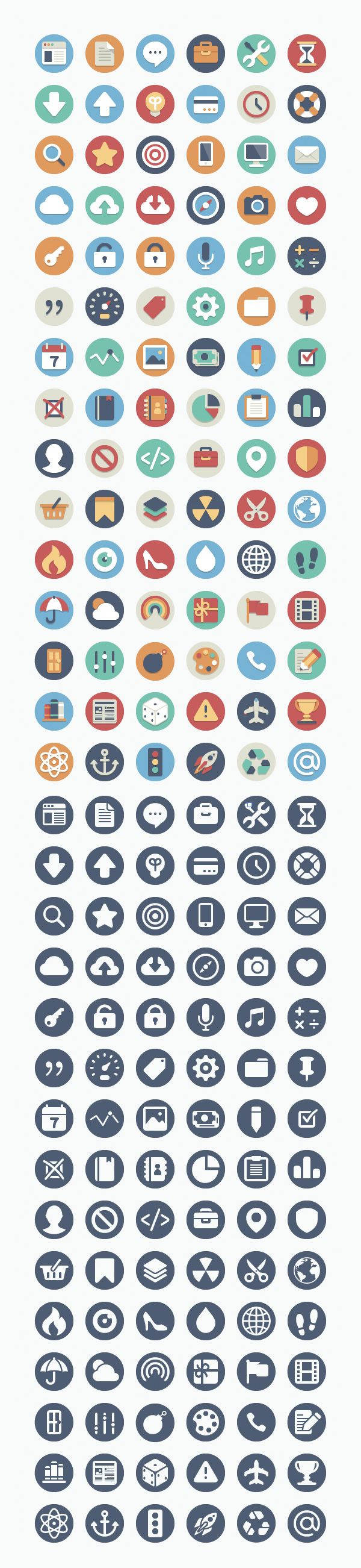 Hipster flat icons would want to print these off and stick them on
