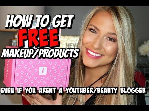 The Secret To Getting Free Products To Review Part 2 Giveaway Youtube Get Free Makeup Free Makeup Beauty Blogger
