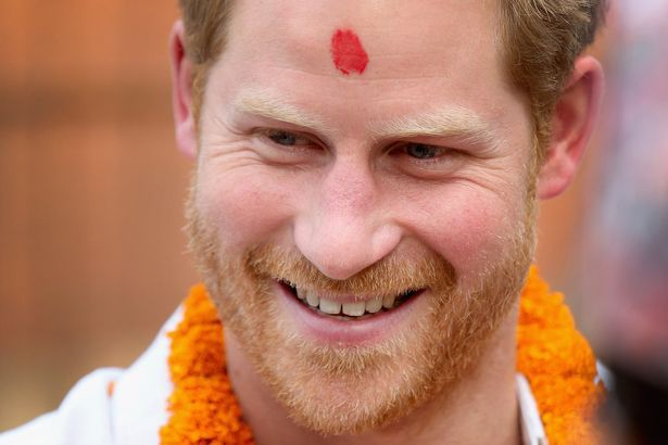 Prince Harry visits a Red Cross facility