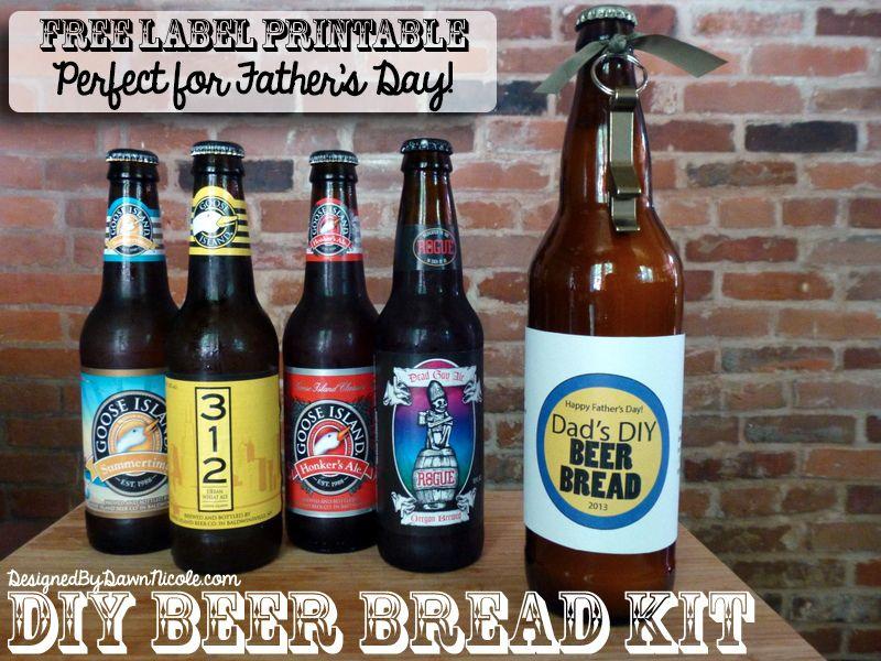 DIY Beer Bread Kits with Free Printable Bottle Label ...