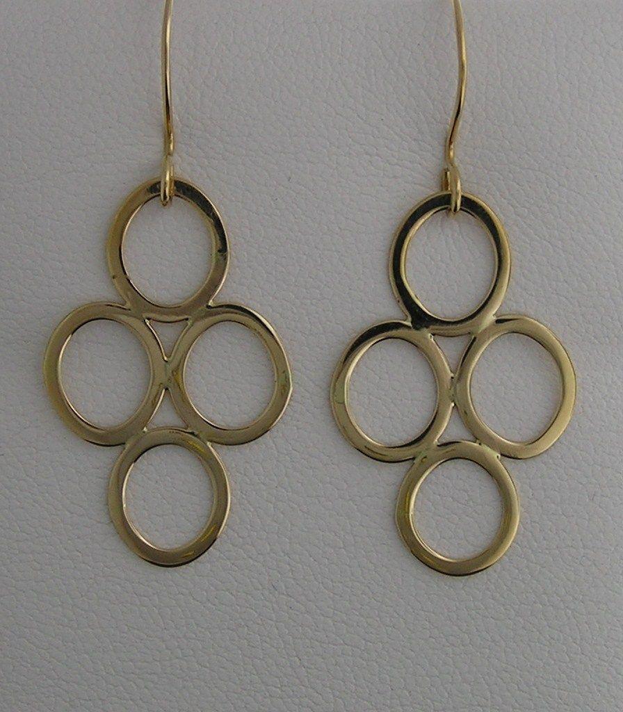 Viccellio Goldsmith handmade earrings in 14k gold.