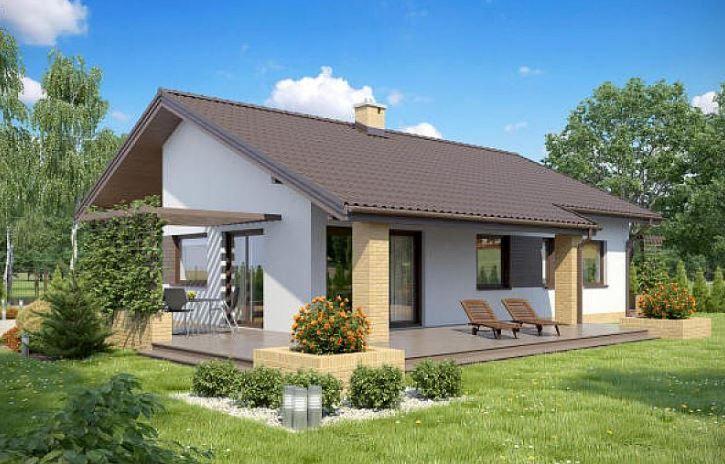 Fachadas de casas a dos aguas fotos casas pinterest for Viviendas pequenas
