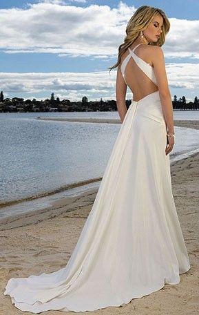 Beach Wedding Dress Love The Low Back Wedding Dress Train Second Wedding Dresses Beautiful Wedding Dresses