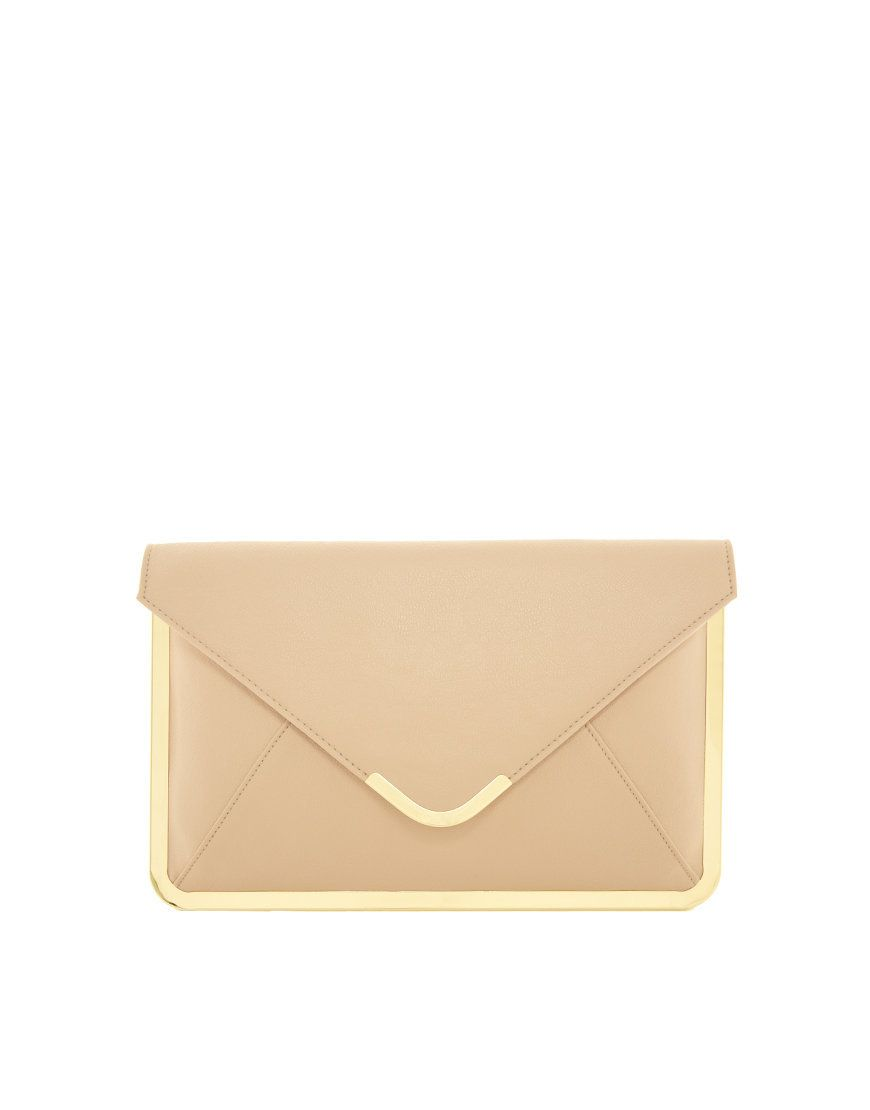 2c4a297d71 simple nude clutch with gold detail #wallis #dress | Accessories ...
