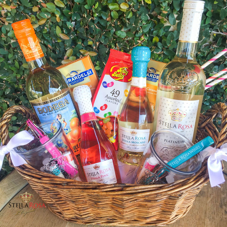 Diy Stella Rosa Gift Basket Father Birthday Gifts Homemade Gift