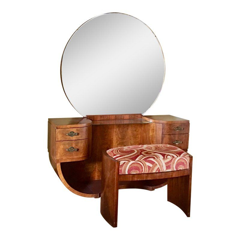Brilliant 1920S Art Deco Vanity Stool 2 Pieces In 2019 Products Gamerscity Chair Design For Home Gamerscityorg