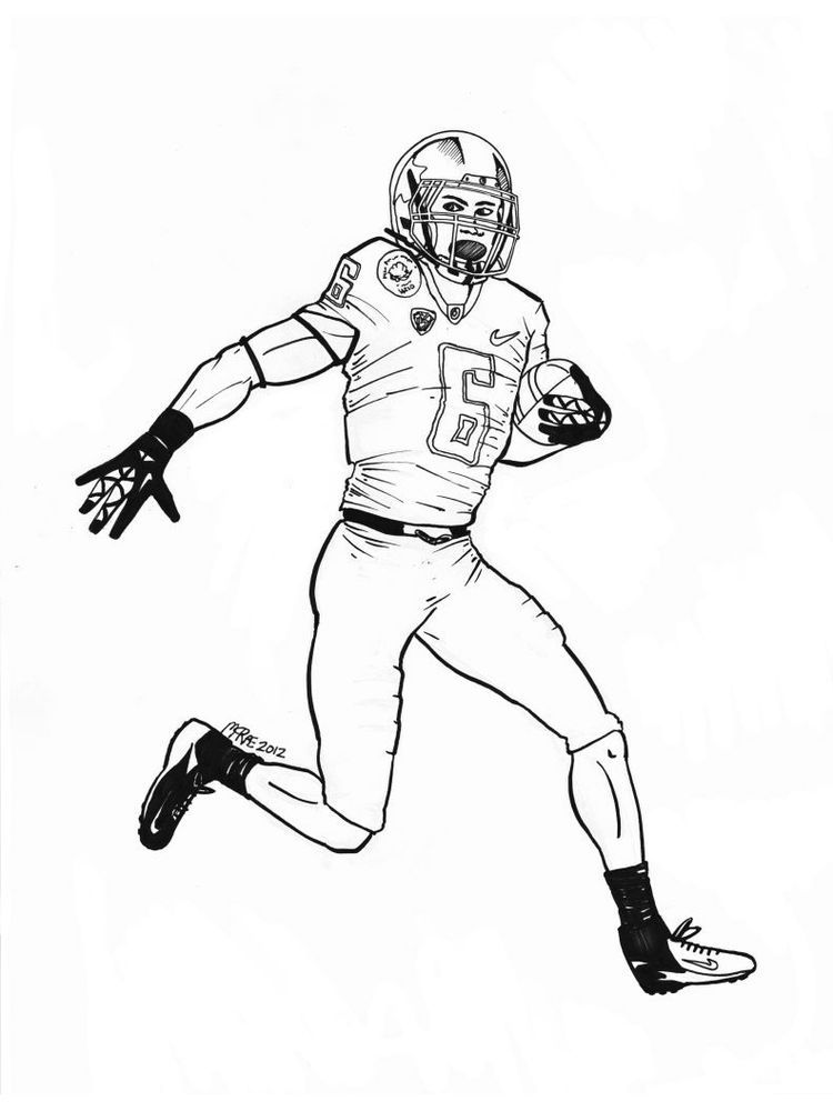 Free Coloring Page Of A Football Player