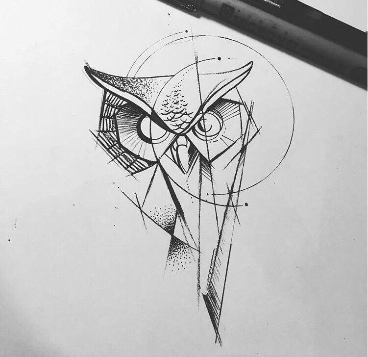 Modern Geometric Owl Tattoo Ideas Design Inspiration Ideas Geometric Owl Tattoo Geometric Tattoos Men Geometric Tattoo