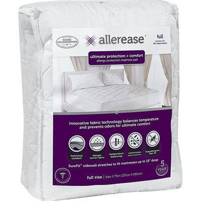 Allerease Ultimate Comfort And Allergy Protection Polyester Mattress Pad Wayfair In 2020 Mattress Pad Comfort Mattress Allergy Protection