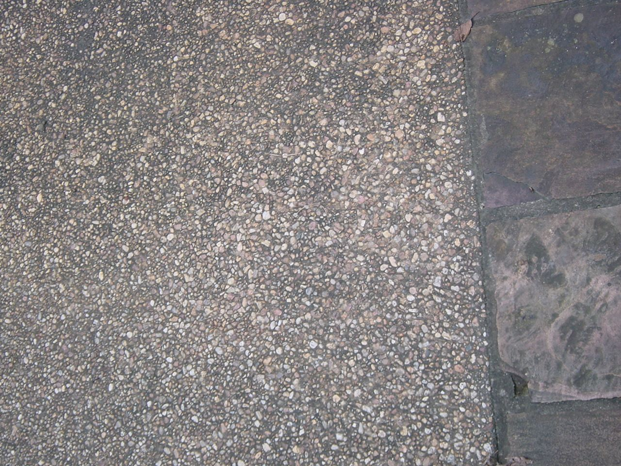 Exposed Aggregate Detail Brown Pea Gravel With Dark Conc Base Example Photo Of Driveway Details Around Atlanta