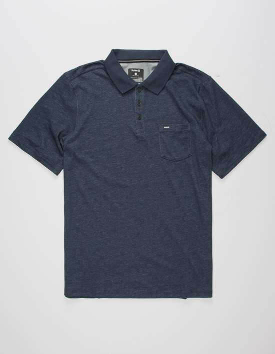 e662d012247 Hurley Dri-FIT Lagos polo shirt. Nike Dri-Fit wicks sweat away to help you  keep dry and comfortable. Patch chest pocket with Hurley logo. Short sleeve.