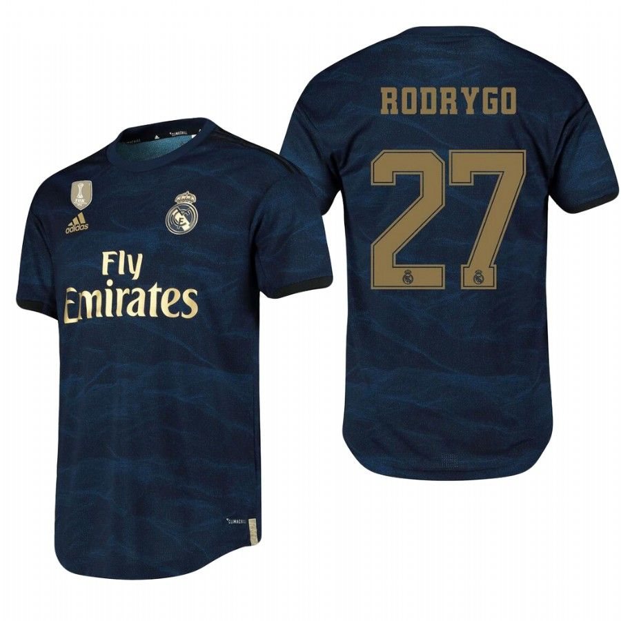 27 Rodrygo Real Madrid 2019 2020 Away Soccer Jersey Shirt Camisetas De Futebol Camisetas Futebol