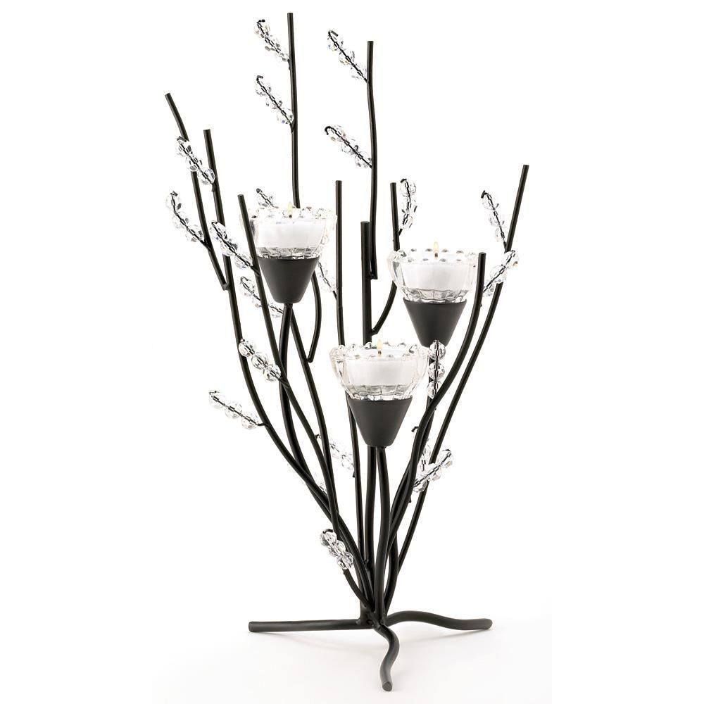 Candle blossomscrystal berries candle holder free gift berries
