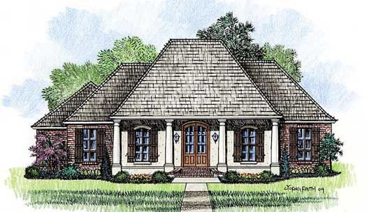 Southern House Plan 3 Bedrooms 2 Bath 1976 Sq Ft Plan 91 132