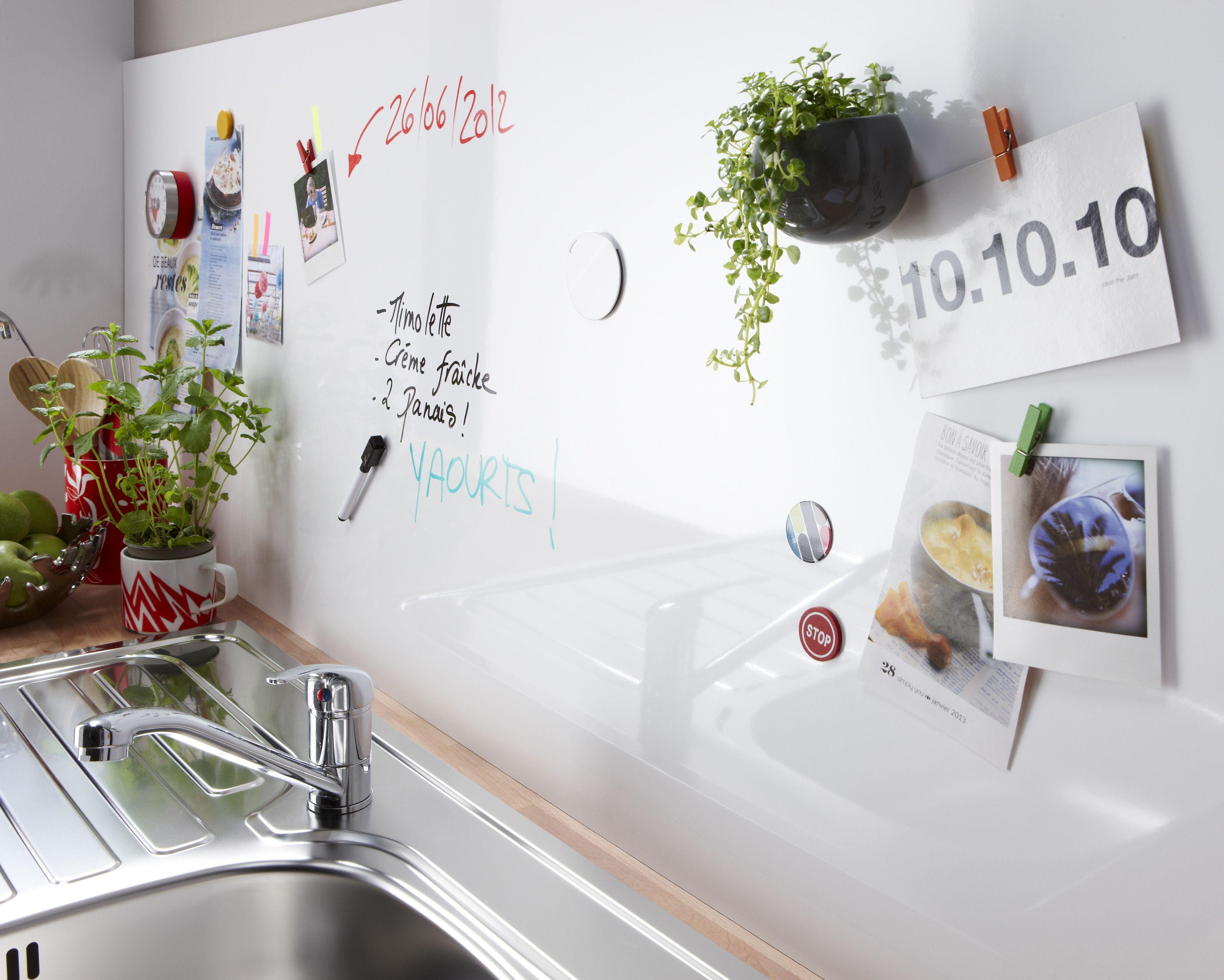 tableau magnétique de leroy merlin : cuisine : que mettre sur sa