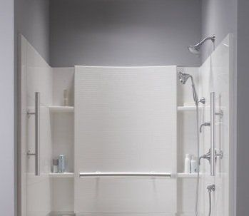 Sterling 71164103 60 Accord Complete Wall Set With Grab Bars Less