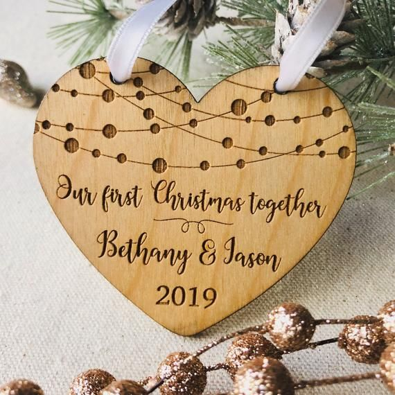 Our First Christmas Together Personalized Heart Shaped ...