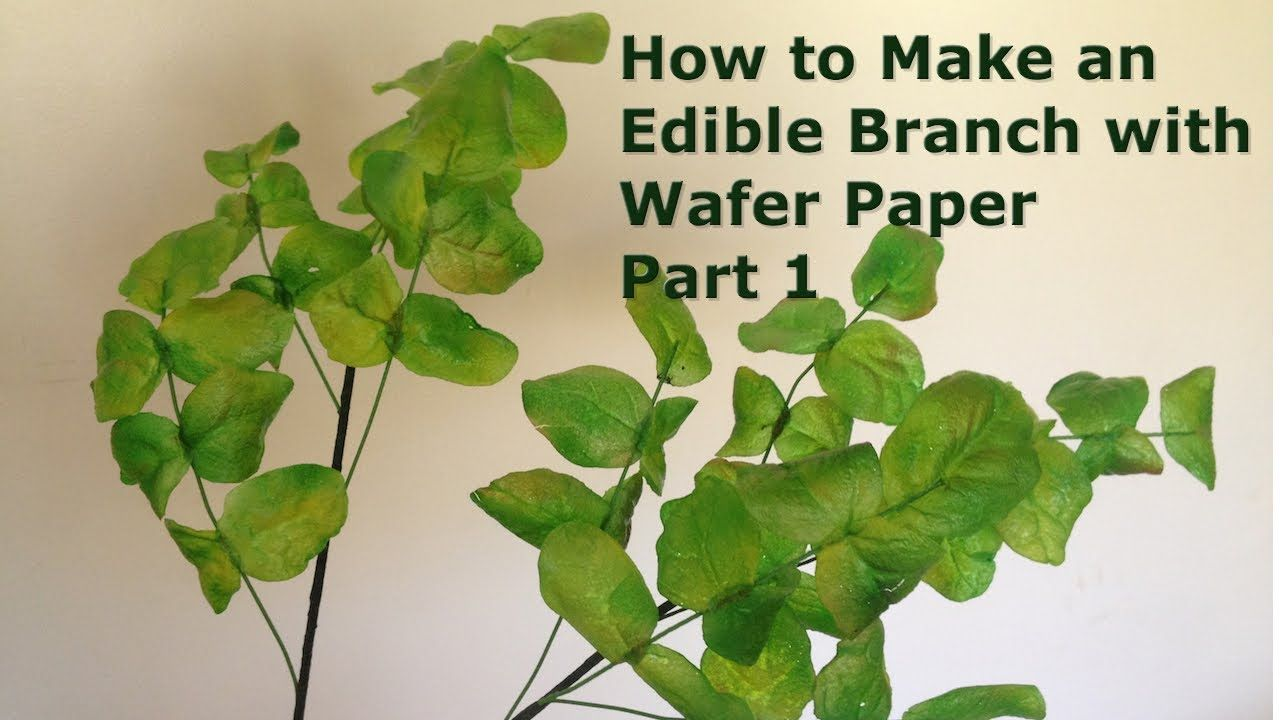How To Make An Edible Branch With Wafer Paper Part 1 Tutorials