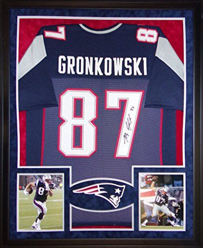 rob gronkowski signed jersey framed