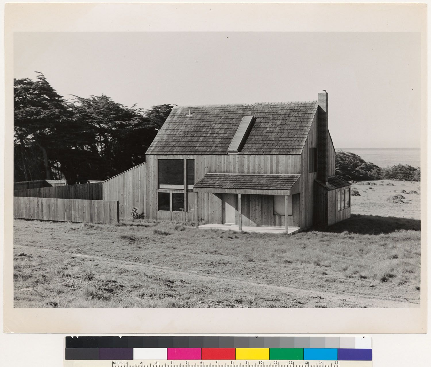 """One of the """"binker"""" barns at The Sea Ranch, CA, designed"""