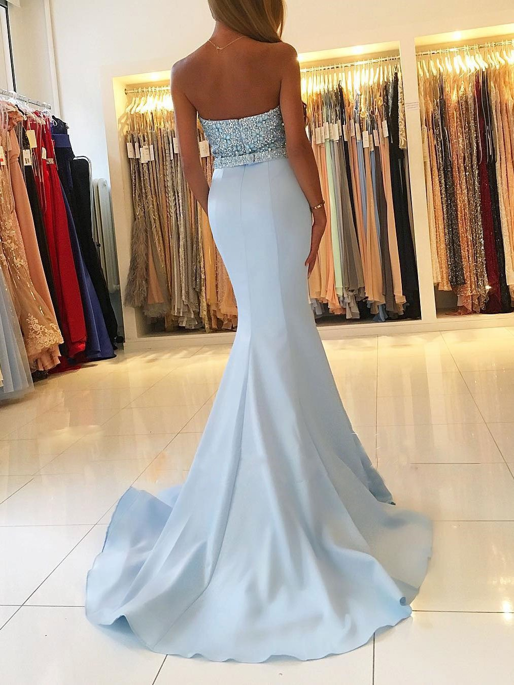 Strapless Sweetheart Neck Beaded Bodice Mermaid Prom Dresses Apd2841 Mermaid Prom Dresses Prom Dresses Blue Blue Mermaid Prom Dress [ 1349 x 1013 Pixel ]
