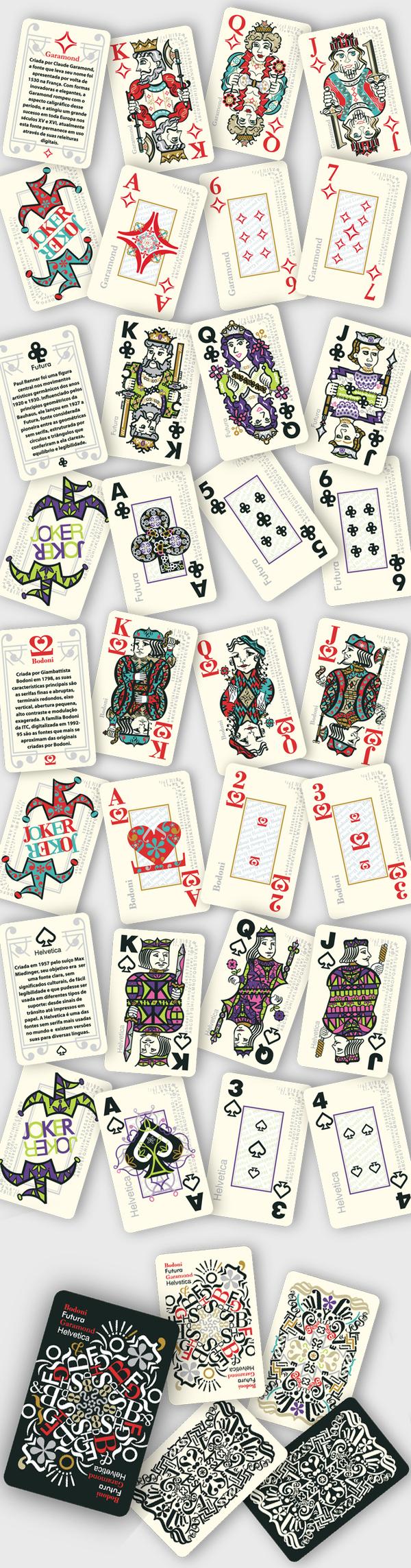 Baralho Tipográfico - Typographic deck by Adriana Amaral Pepplow, via Behance