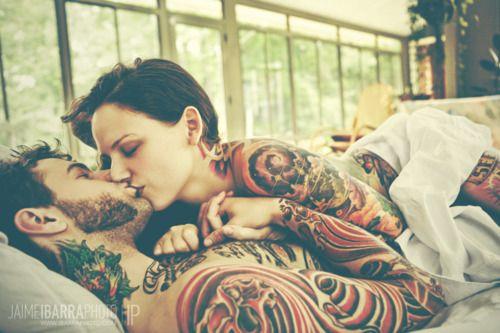 5e576ec6220c2 tattooed couples   Tumblr   SeXy Tattooed Couples   Couple tattoos ...