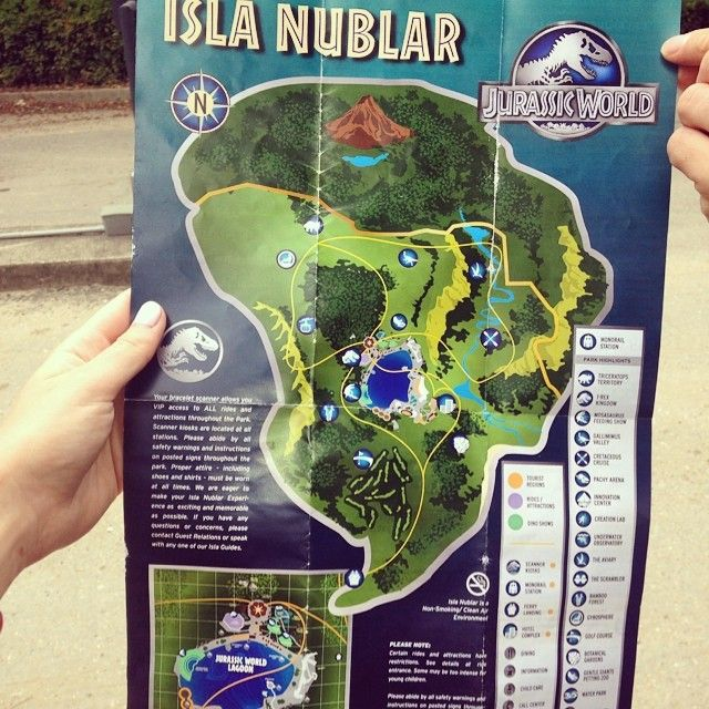 Check out the jurassic world park brochure in new photos just cool isla nublar map jurassic park world gumiabroncs Images