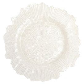 Flora Charger Plate in White (Set of 4)