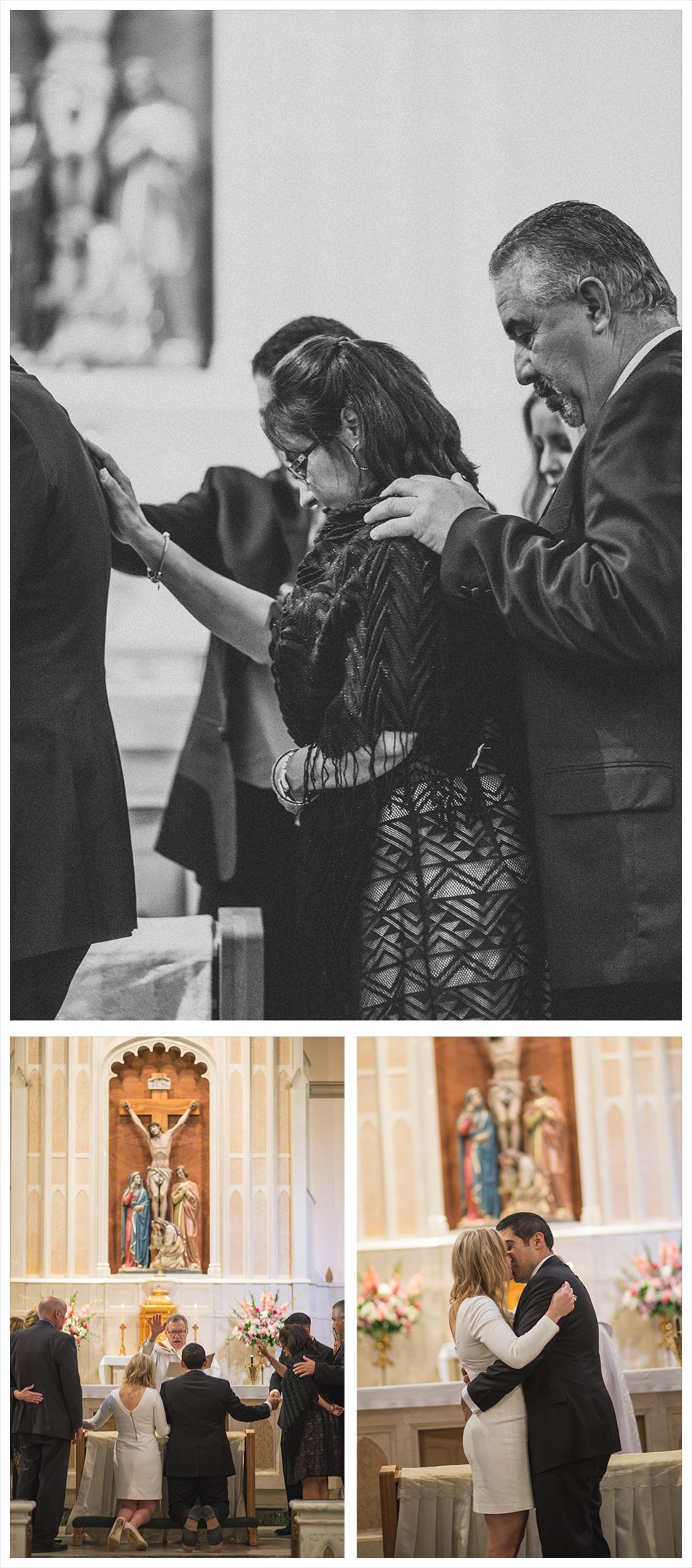 Small catholic wedding