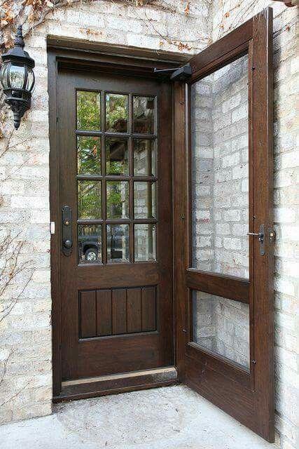Pretty Screen And Door Combo Walnut Doors Front Door With