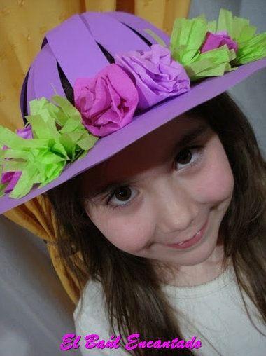 Sombrero de Cartulina para la Fiesta de la Primavera  c64bf986218