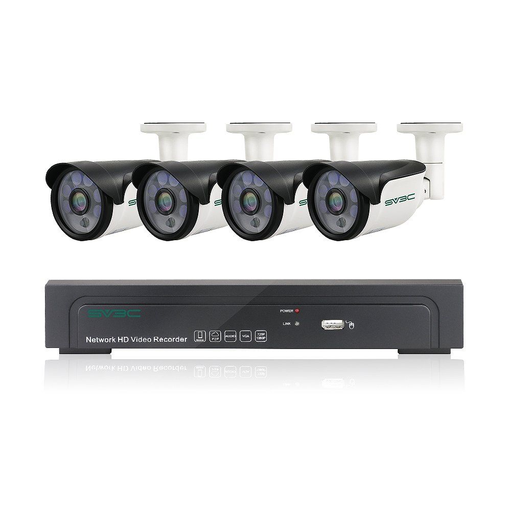 SV3C Full HD 1080P PoE Security Camera System Outdoor Home ...