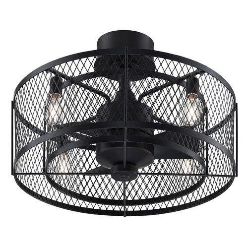 Found It At Wayfair 13 Vintere 3 Blade Ceiling Fan With Remote Caged Ceiling Fan Ceiling Fan With Light Bronze Ceiling Fan