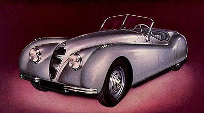 Promotional Advertising Poster 1950 Jaguar XK 120