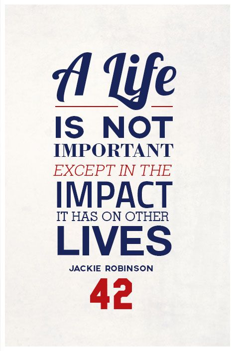 """""""Jackie Robinson Quote on Print. See more at www.finesportsprints.com #robinson #sportsquote #dodgers"""""""