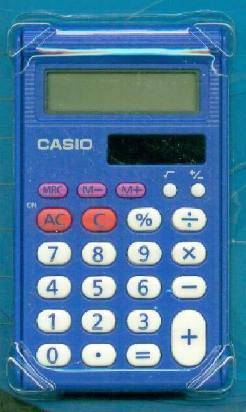 Casio 8 Digit Pocket Solar Plus Battery Blue Durable School ...