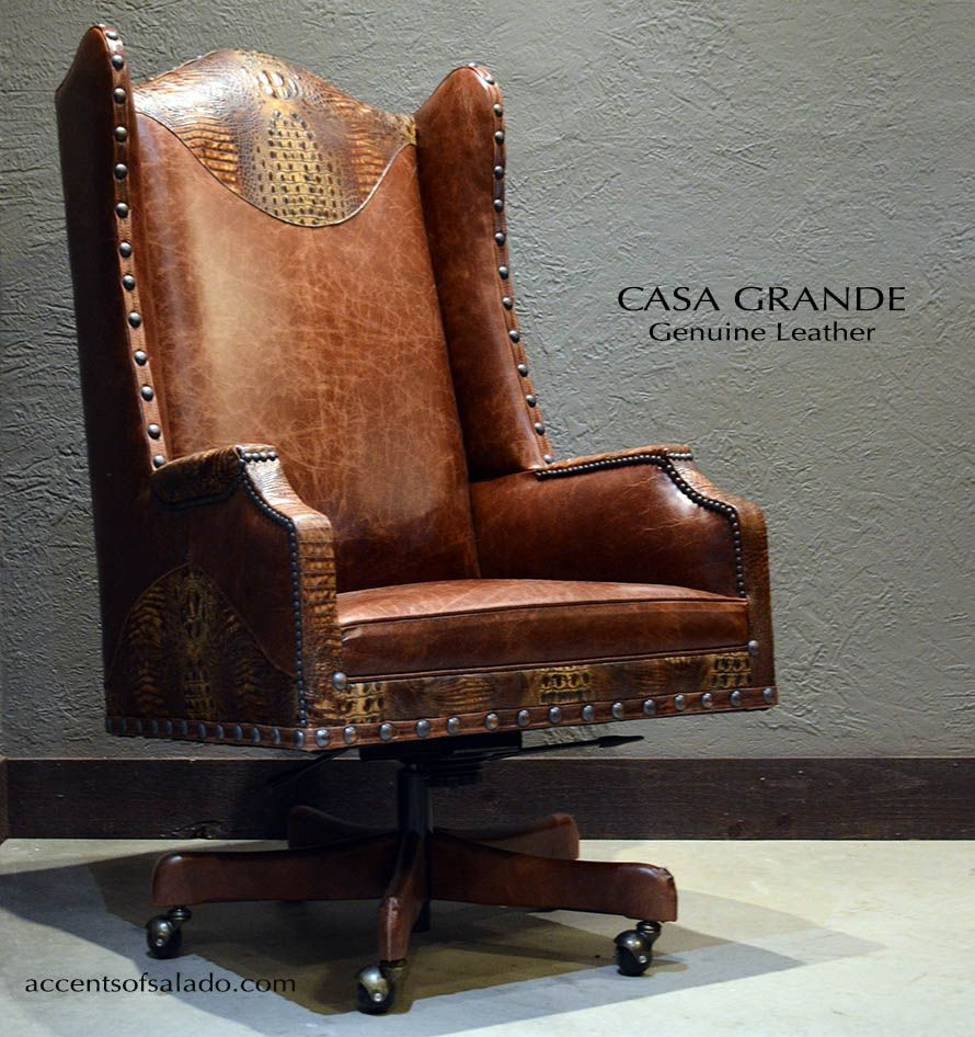 Old World Leather Executive Chair Find It At Acents Of Salado Tuscan Decorating Tuscan Design Country Decor Diy