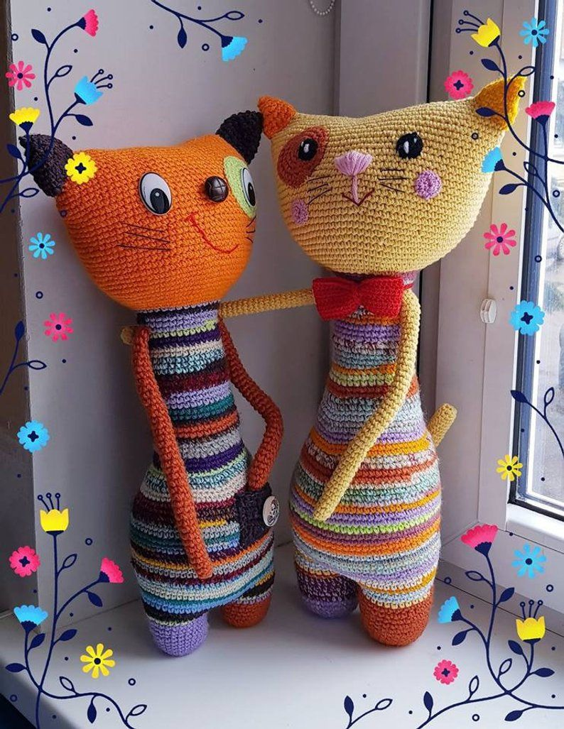 Tiny kitty cat amigurumi pattern - Amigurumi Today | 1027x794