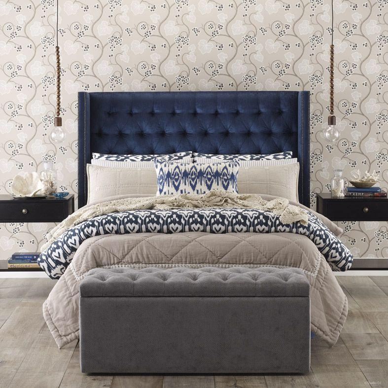 Heatherly design australia custom headboard waldorf for Bedroom bedhead design