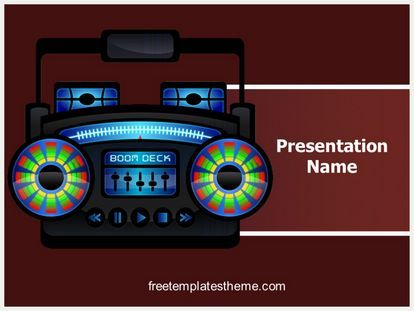 Get this #Free #Ghetto #Radio #PowerPoint #Template with