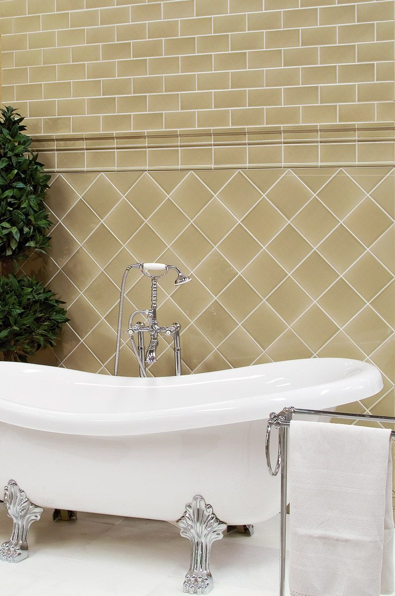 Traditional Beige Gloss Wall Tiles Featuring A Crackle Glaze