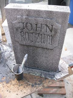 DIY tombstone