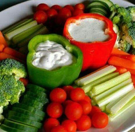 I like the display for a veggie tray and dip