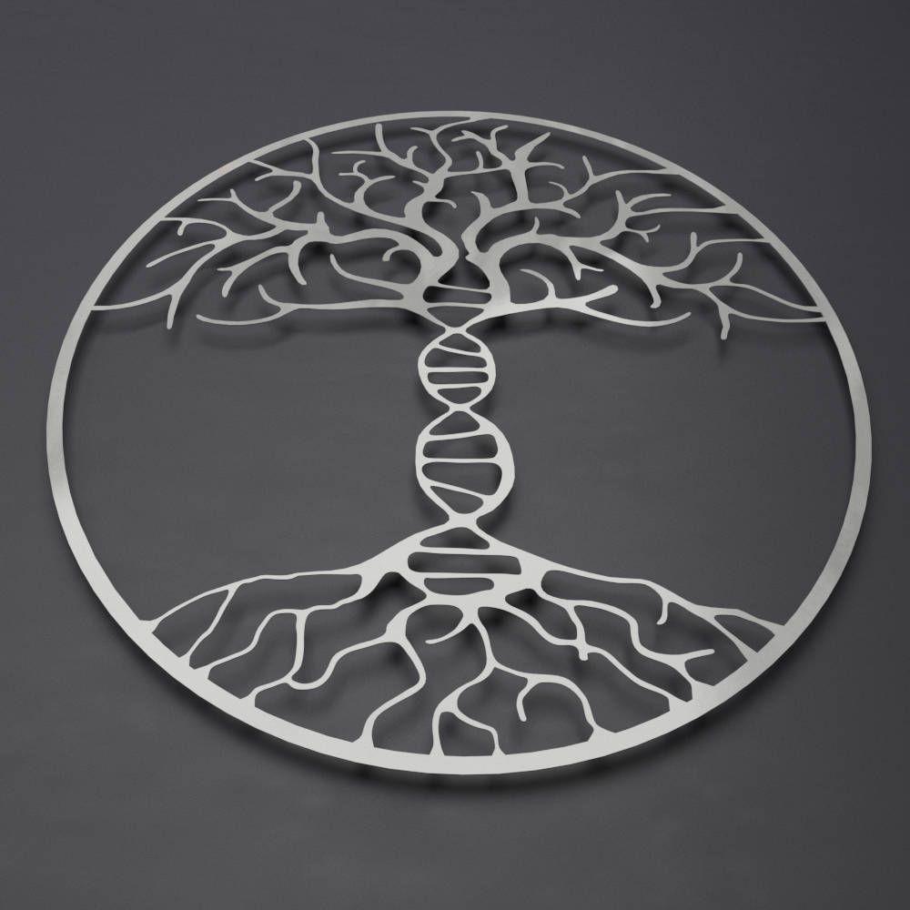 Dna tree of life metal wall art metal tree wall art double helix