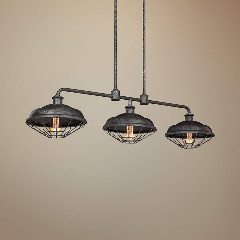 Lennex 48 Wide Gray Outdoor Kitchen Island Light Chandelier 18w52 Lamps Plus Kitchen Island Lighting Island Lighting Chandelier Lighting