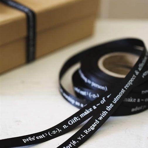 giftwrap. ribbon.