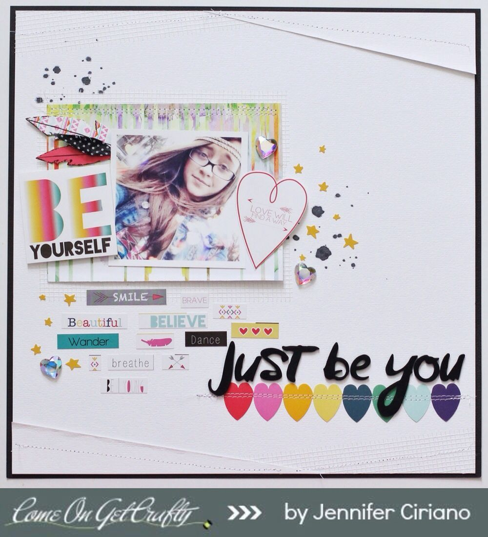 #papercraft #scrapbook #layout Just Be You by Jenns Doodles at @Studio_Calico